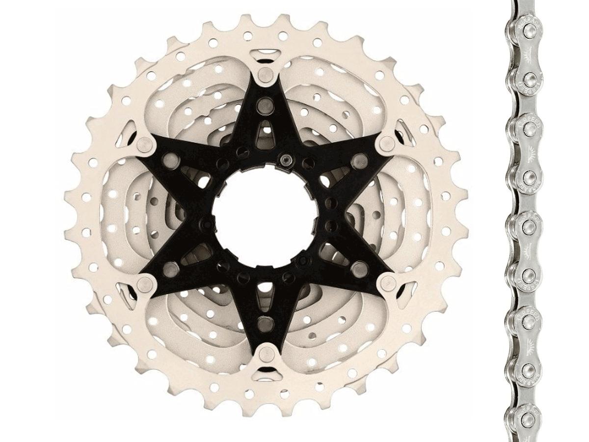 Cassete Bike Sunrace Rs3 11v 11/32 + Corrente Sunrace 11v