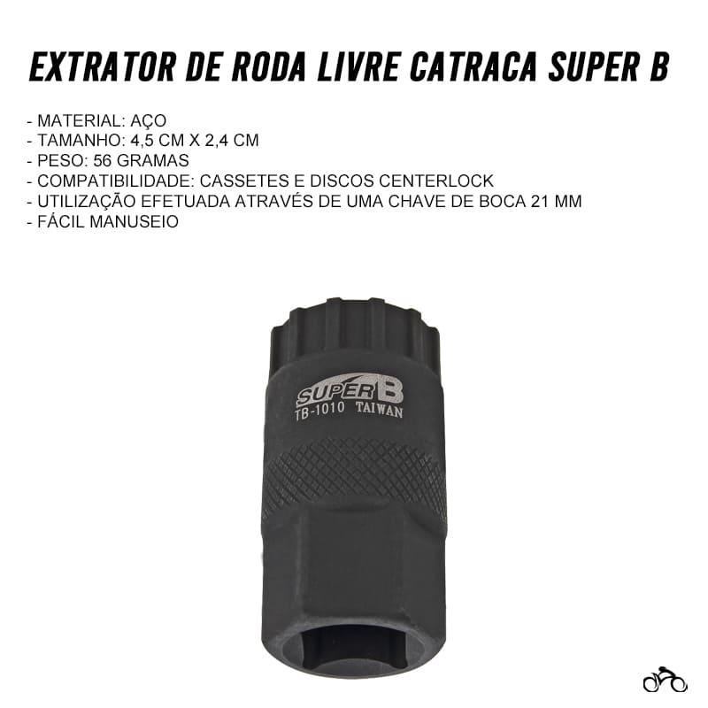 Chave Extrator de Cassete Modelo HG Super B TB-1010 Mtb Speed