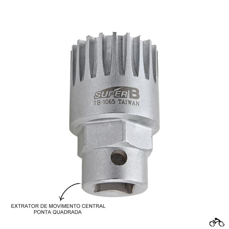 Chave Extrator de Movimento Central Super B Tb-1065 Ponta Quadrada Mtb Speed