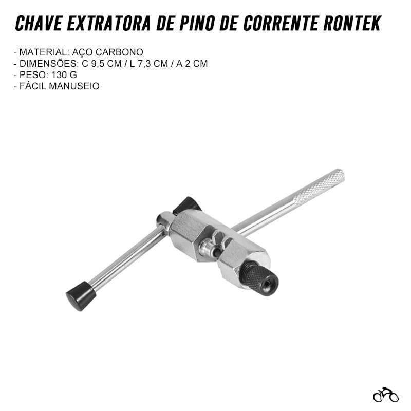 Chave Extratora de Pino de Corrente Rontek com Regulador Mtb Speed