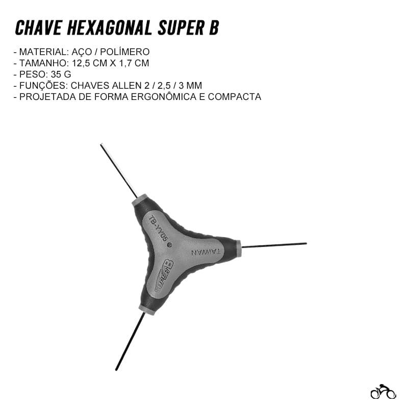 Chave Hexagonal Allen Super B Tb-YY05 2/2,5/3 mm Mtb Speed