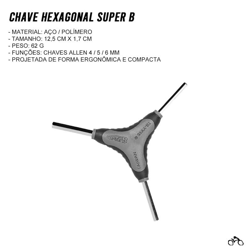 Chave Hexagonal Allen Super B Tb-YY15 4/5/6 mm Mtb Speed