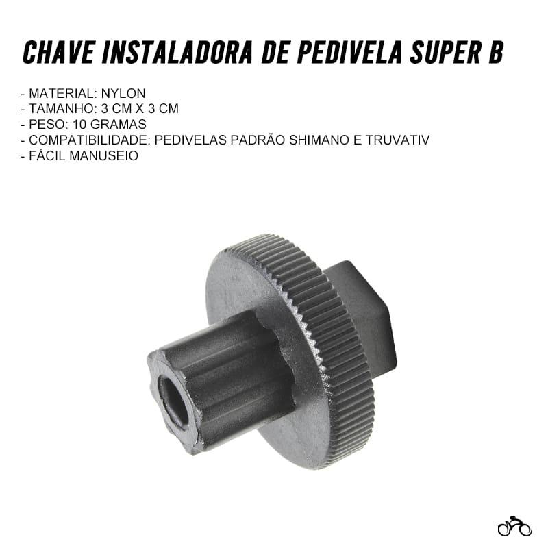 Chave Instaladora de Pedivela Super B TB-8911 Mtb Speed