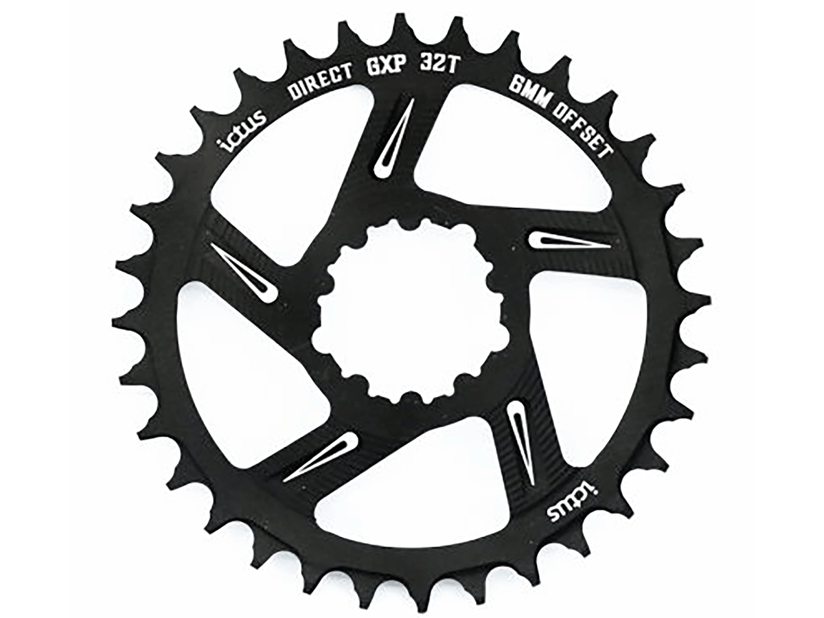 Coroa de Bicicleta Ictus Direct Gxp Offset 6mm 32T - 34T - 36T - 38T