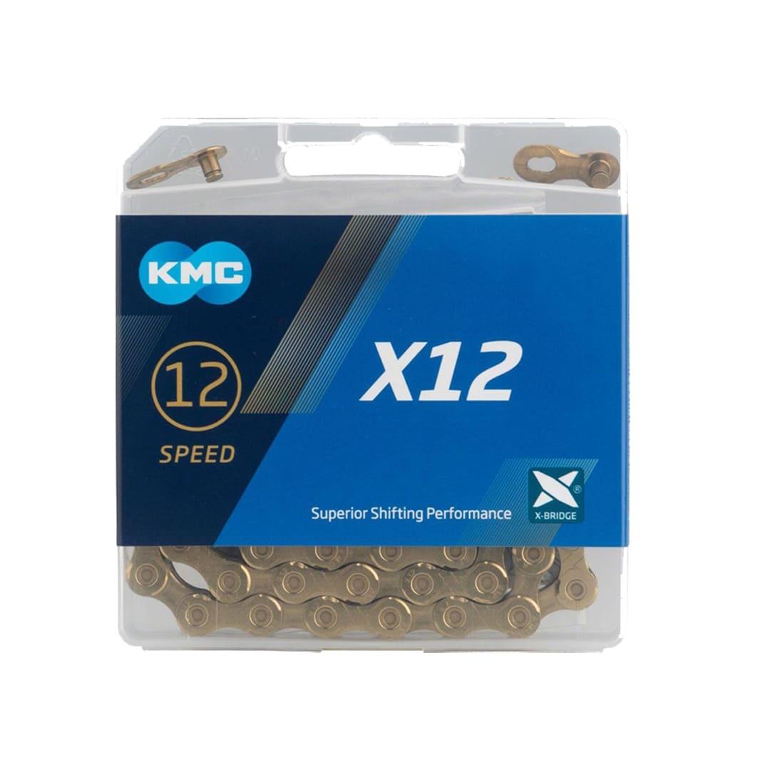 Corrente de Bicicleta Kmc X12 12v Dourada