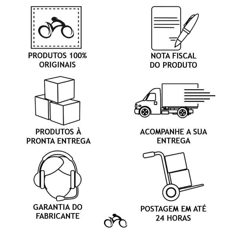 Farol para Bike Absolute JY-7058 + Pisca Traseiro 6090T Led