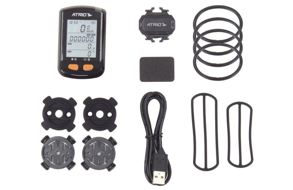 Gps para Bike Átrio Steel Bi132 Cadência Mtb Speed + Cinta Cardíaca Átrio Premium
