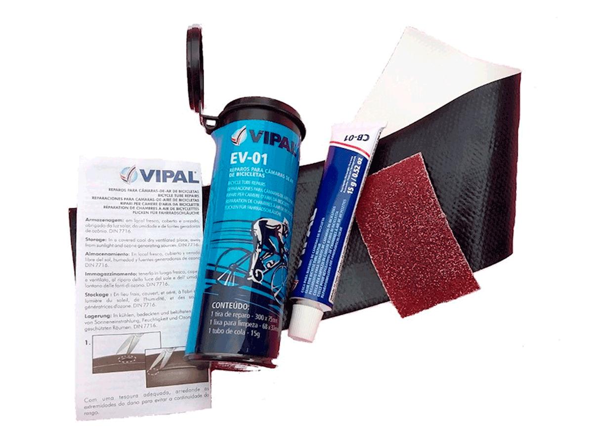Kit Remendo Bike Vipal Ev-01 Reparo Pneu Câmara De Ar Mtb Speed