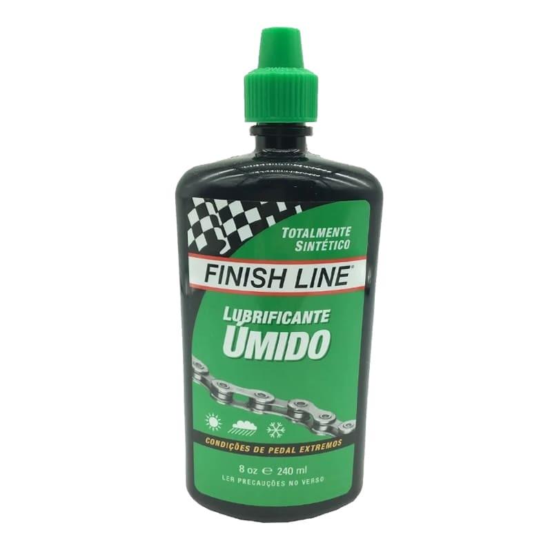 Lubrificante Bike Finish Line Úmido Corrente 240 ml Mtb Speed