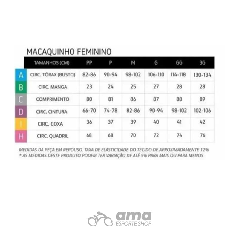 Macaquinho Ert Forro Gel Team Rosa Feminino Ciclismo Mtb Speed