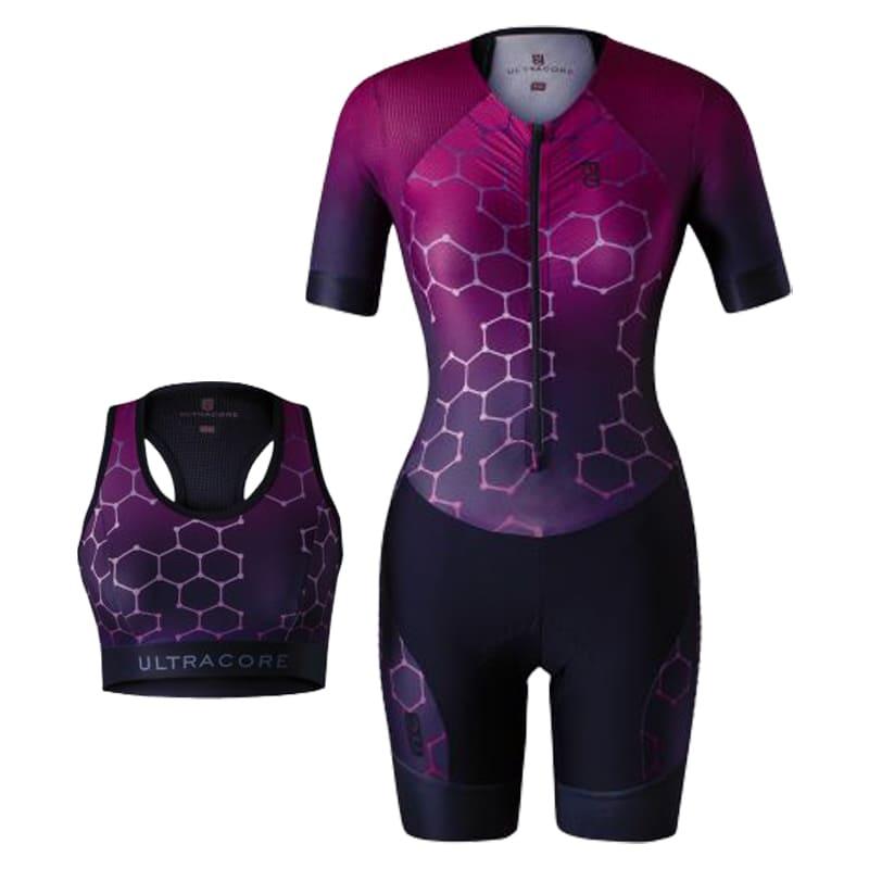 Macaquinho Ultracore Cyber Pink Forro Gel Feminino Ciclismo Mtb Speed