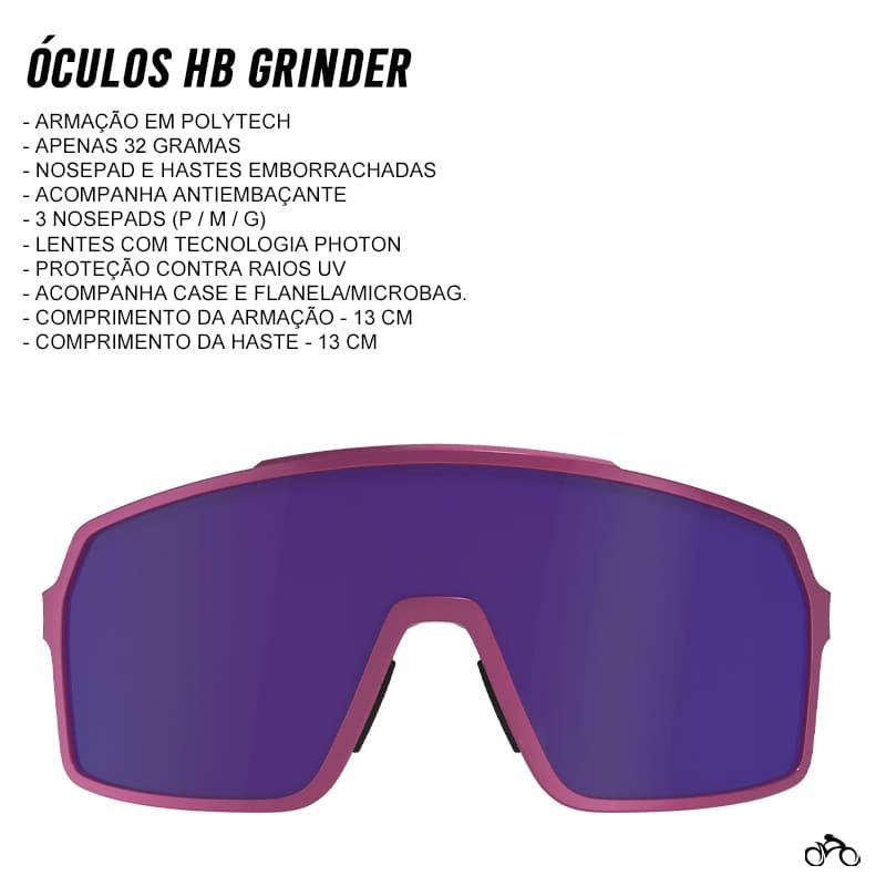 Óculos Ciclismo Hb Grinder Pink Mirror Blue Chrome