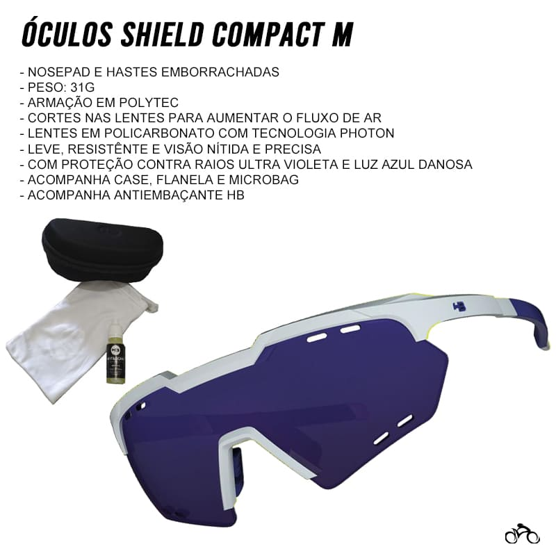 Óculos Ciclismo Hb Shield Compact Mountain Pearled White