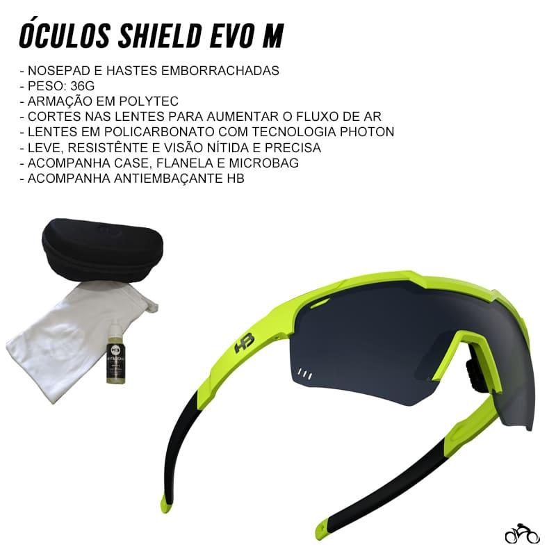 Óculos Ciclismo Hb Shield Evo Mountain Neon Yellow