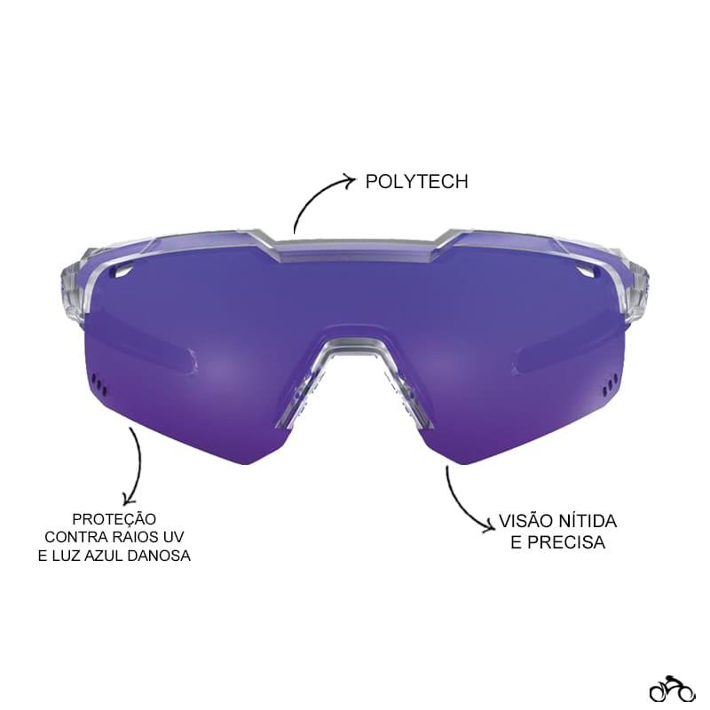 Óculos Ciclismo Hb Shield Evo Road Clear Multi Purple