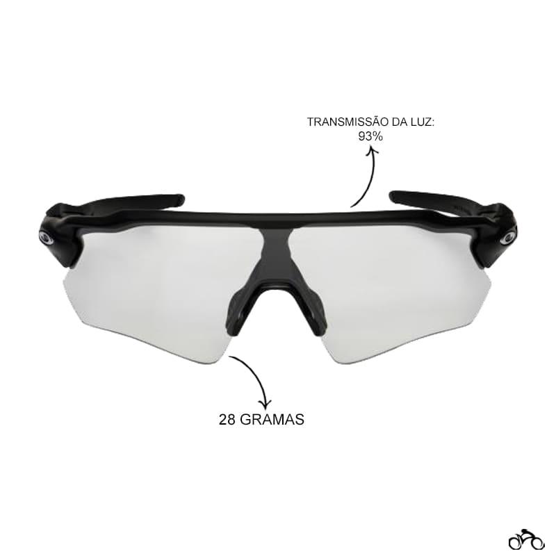 Óculos Ciclismo Oakley Radar Ev Path Matte Black Lens Clear