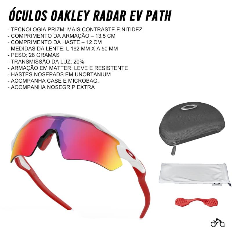Óculos Ciclismo Oakley Radar Ev Path Polished White Prizm Road