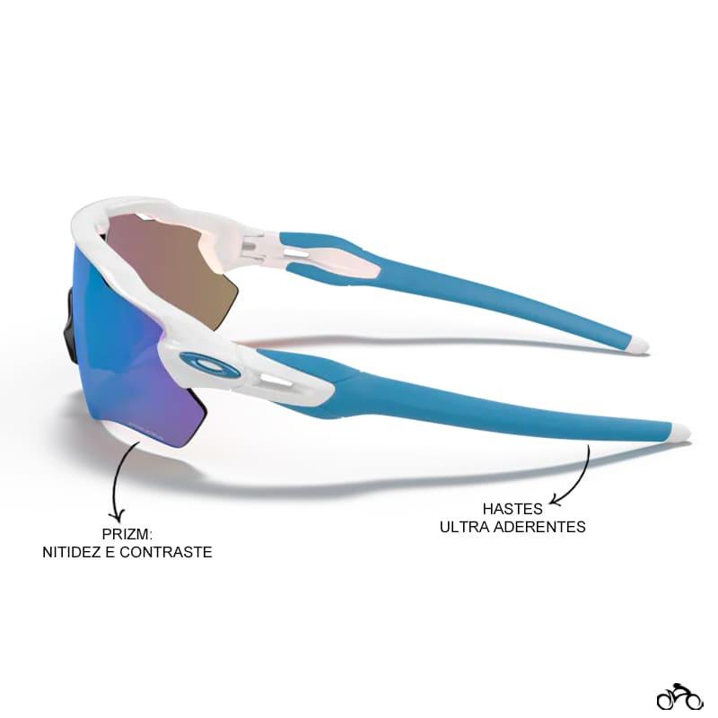 Óculos Ciclismo Oakley Radar Ev Path Polished White Prizm Sapphire