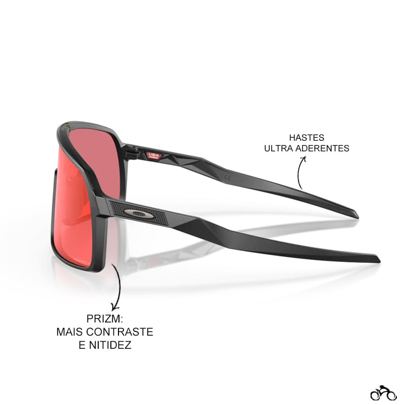 Óculos Ciclismo Oakley Sutro Matte Black Prizm Trail Torch