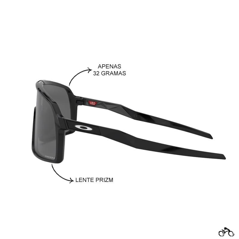 Óculos Ciclismo Oakley Sutro Polished Black Prizm Black Iridium