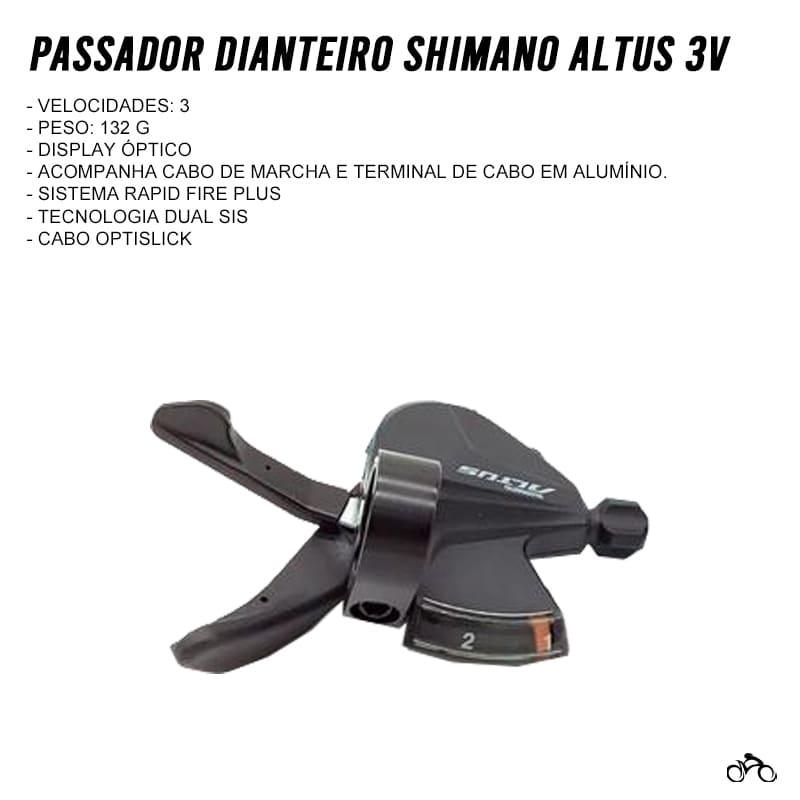 Passador Dianteiro Shimano Altus SL-M2010-L 3v