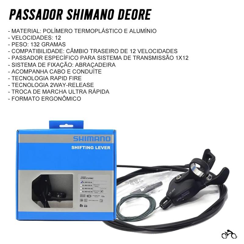Passador Traseiro Shimano Deore SL-M6100-R 12v