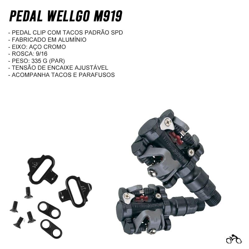 Pedal de Bicicleta Clip Wellgo M919 Mtb