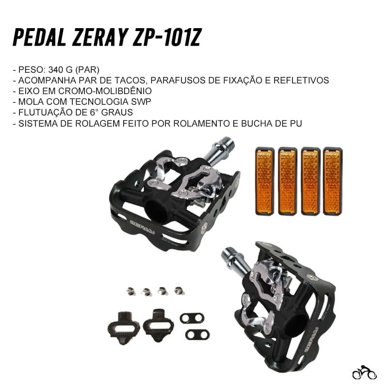 Pedal de Bicicleta Clip Zeray Zp101z Plataforma Mtb