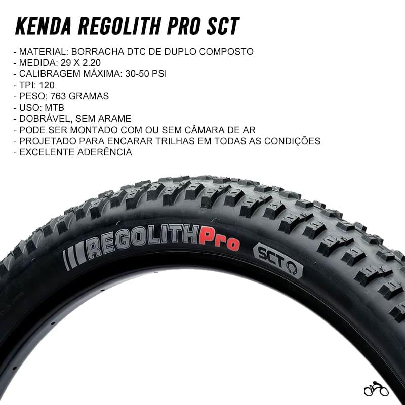 Pneu de Bicicleta Kenda Regolith Pro 29 x 2.20 Sct Mtb Kevlar