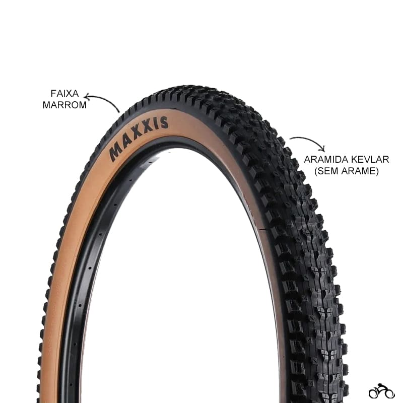 Pneu de Bicicleta Maxxis Rekon EXO Faixa Marrom 29 x 2.40 Wt Mtb Kevlar