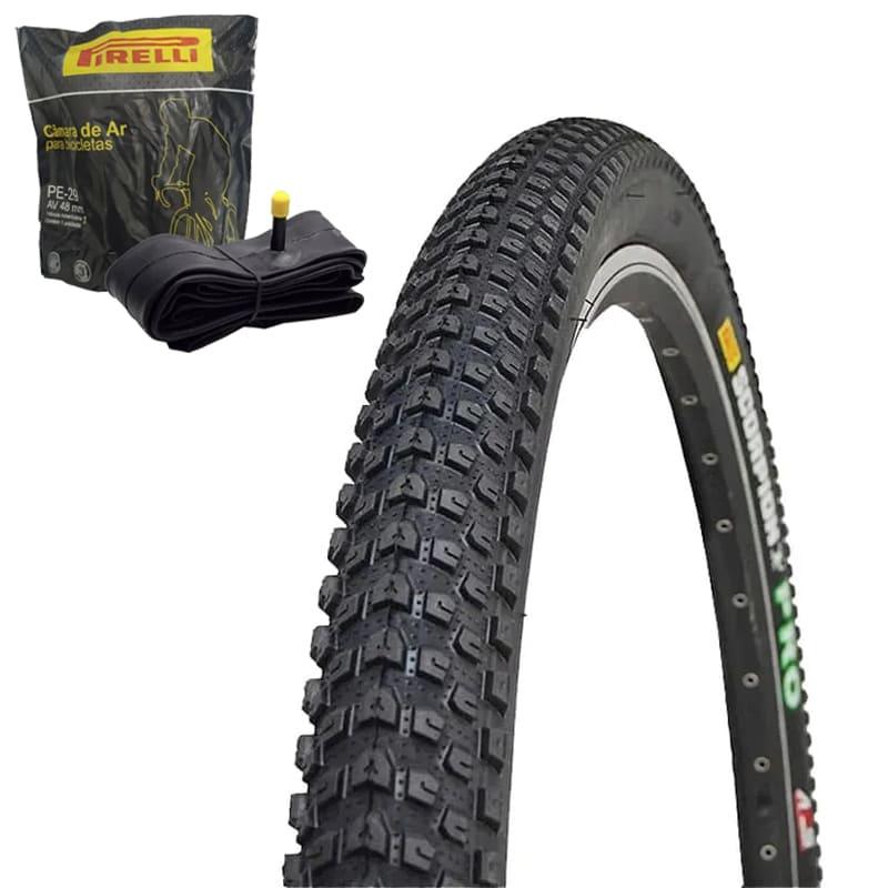Pneu de Bicicleta Pirelli Scorpion Pro 29 x 2.20 Mtb Kevlar + Câmara Pirelli Americana
