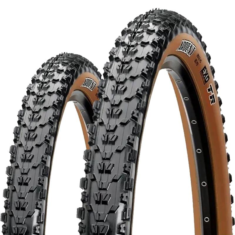 Pneus de Bicicleta Maxxis Ardent EXO Skinwall Faixa Marrom 29 x 2.25 Mtb Kevlar Par