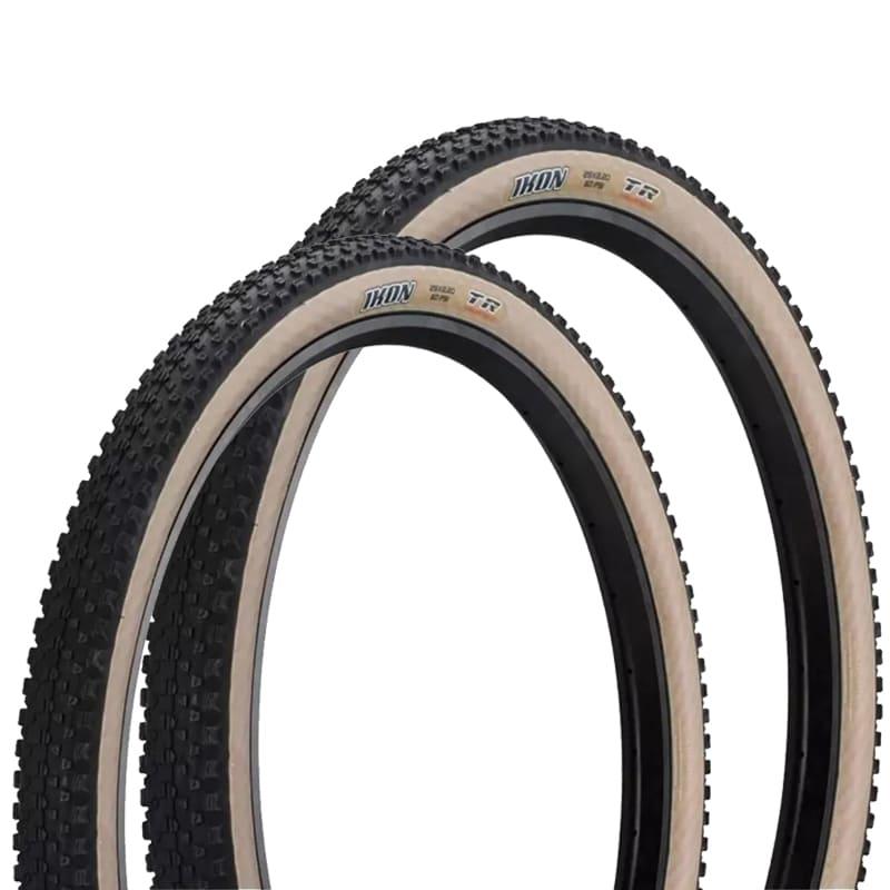 Pneus de Bicicleta Maxxis Ikon EXO Skinwall Faixa Bege 29 x 2.20 Mtb Kevlar Par