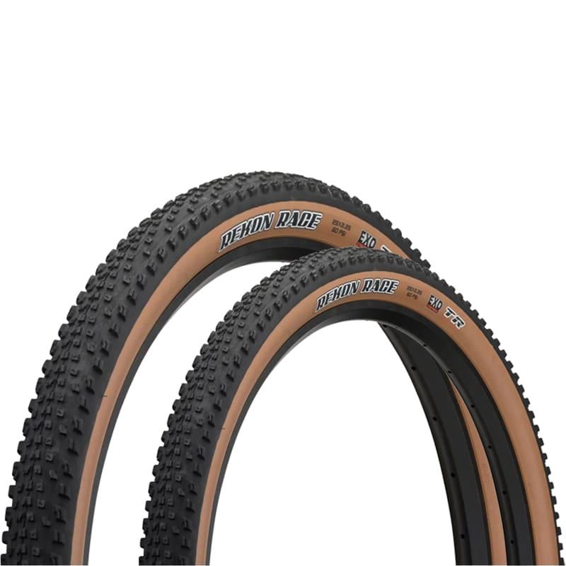 Pneus de Bicicleta Maxxis Rekon Race EXO Faixa Marrom 29 x 2.35 Mtb Kevlar Par