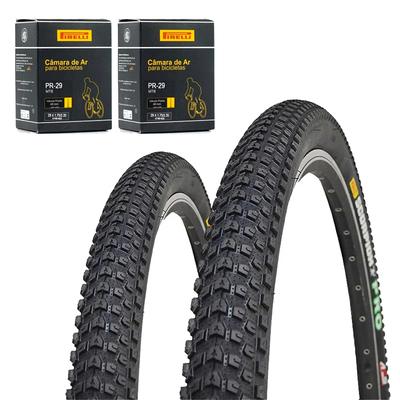 Pneus de Bicicleta Pirelli Scorpion Pro 29 x 2.20 Mtb Kevlar + Câmara Pirelli Par