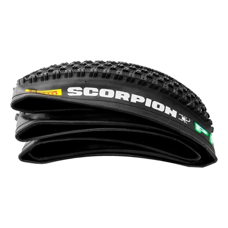 Pneus de Bicicleta Pirelli Scorpion Pro 29 x 2.20 Mtb Kevlar + Câmara Pirelli Par + Fitas Anti Furo