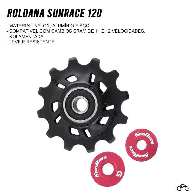 Roldana de Câmbio Bicicleta Sunrace 12 Dentes 11v e 12v