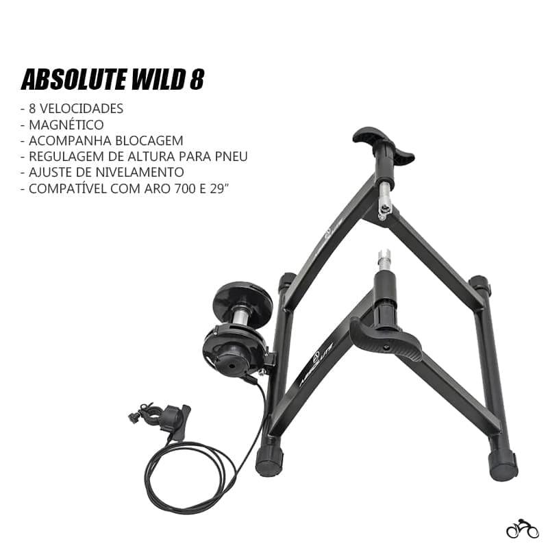 Rolo de Treino Bike Absolute Wild 8 Magnético Mtb Speed
