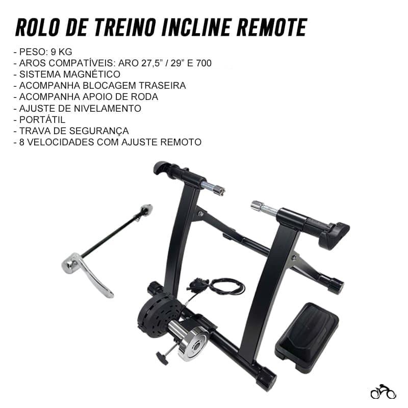 Rolo de Treino Bike Incline Remote Magnético Mtb Speed