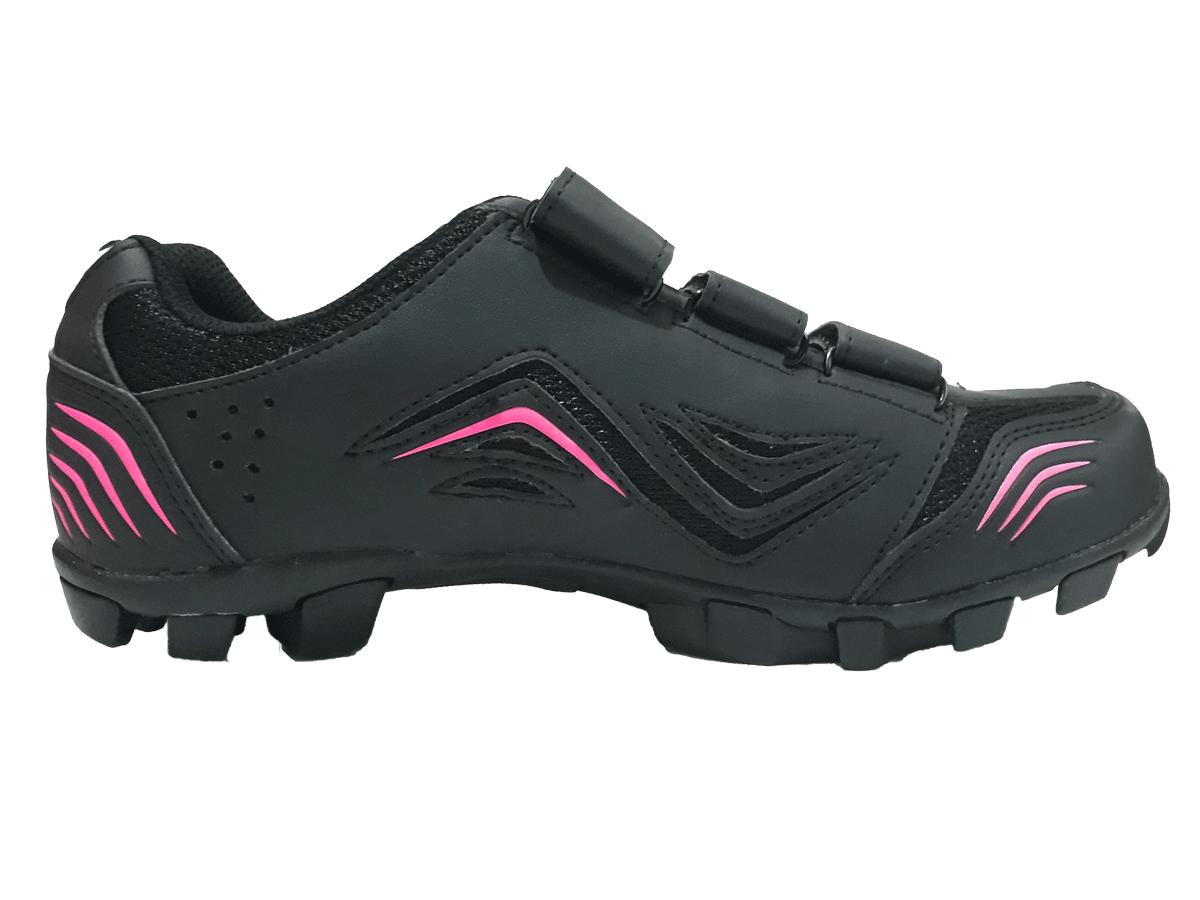 Sapatilha Mtb Ciclismo Tsw New Fit Feminina + Pedal Wellgo M919