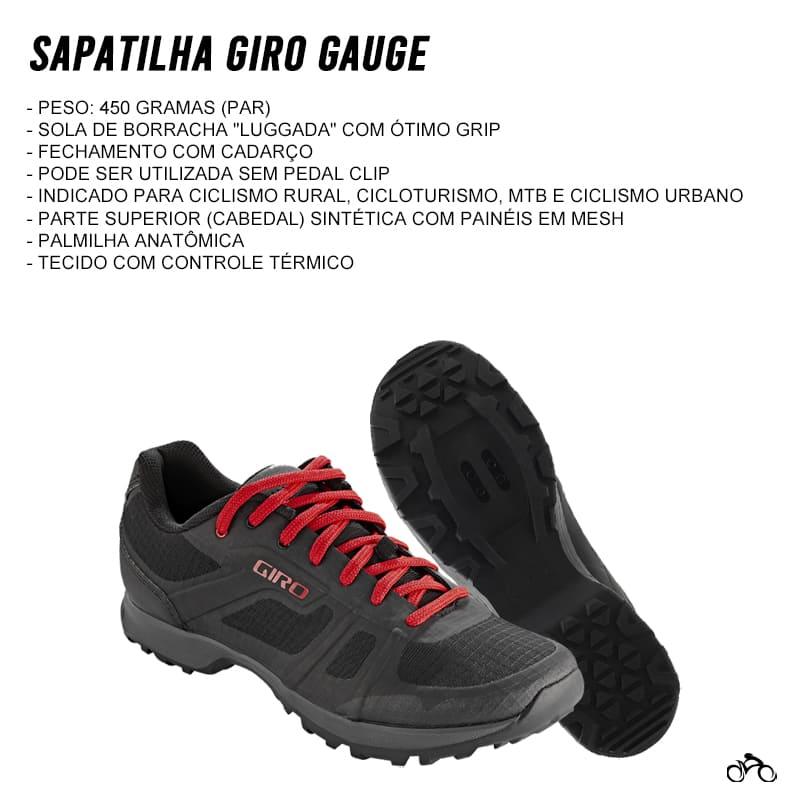 Sapatilha Cicloturismo Mtb Giro Gauge
