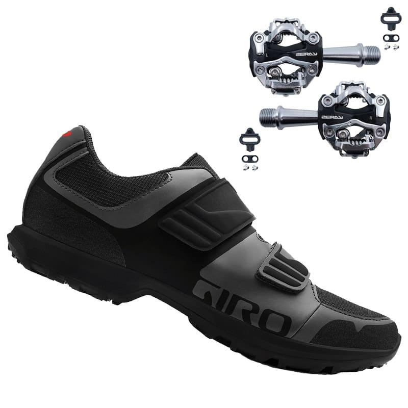 Sapatilha Giro Berm Cicloturismo Mtb + Pedal Zeray ZP-108S