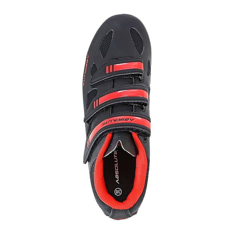 Sapatilha Mtb Ciclismo Absolute Nero II Vermelha + Pedal Wellgo C2 Plataforma