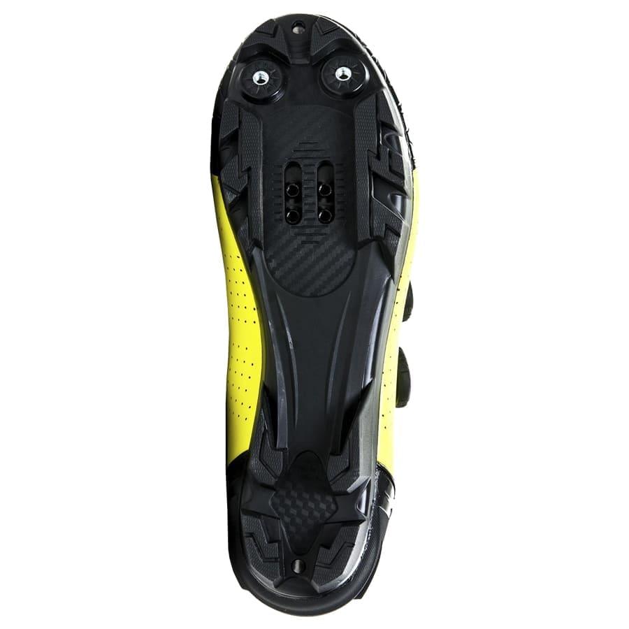 Sapatilha Mtb Ciclismo Absolute Prime II Amarela + Pedal Shimano M505
