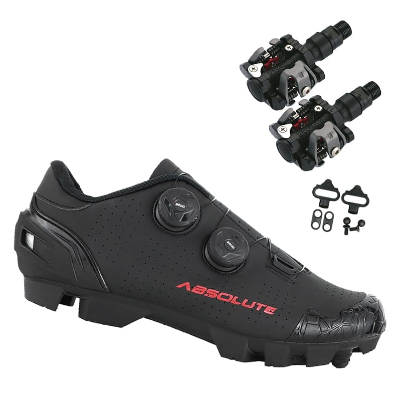 Sapatilha Mtb Ciclismo Absolute Prime II Preta + Pedal Wellgo M919