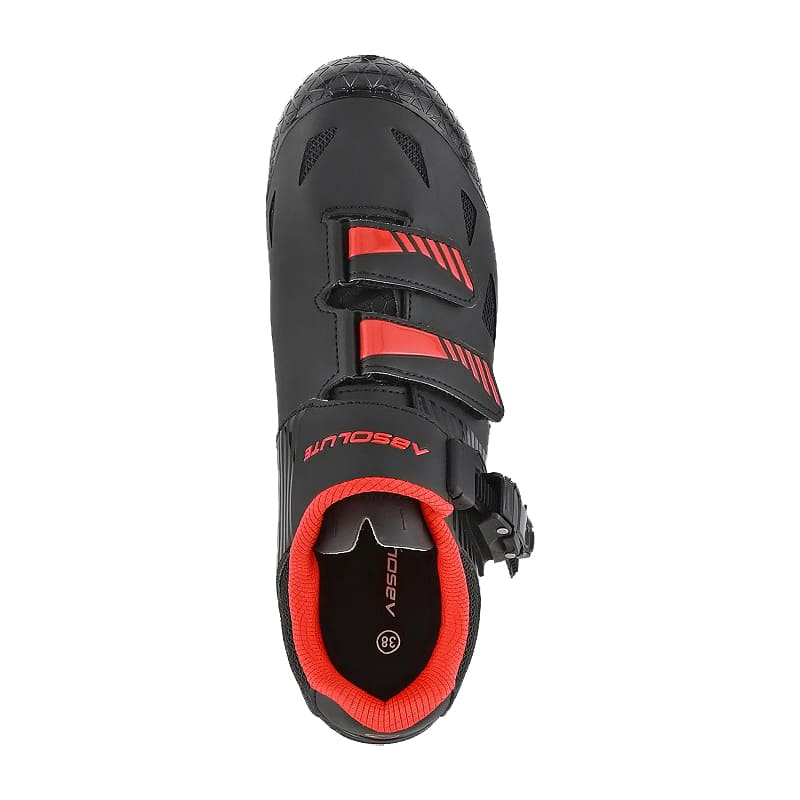 Sapatilha Mtb Ciclismo Absolute Wild II Vermelha + Pedal Wellgo C2 Plataforma