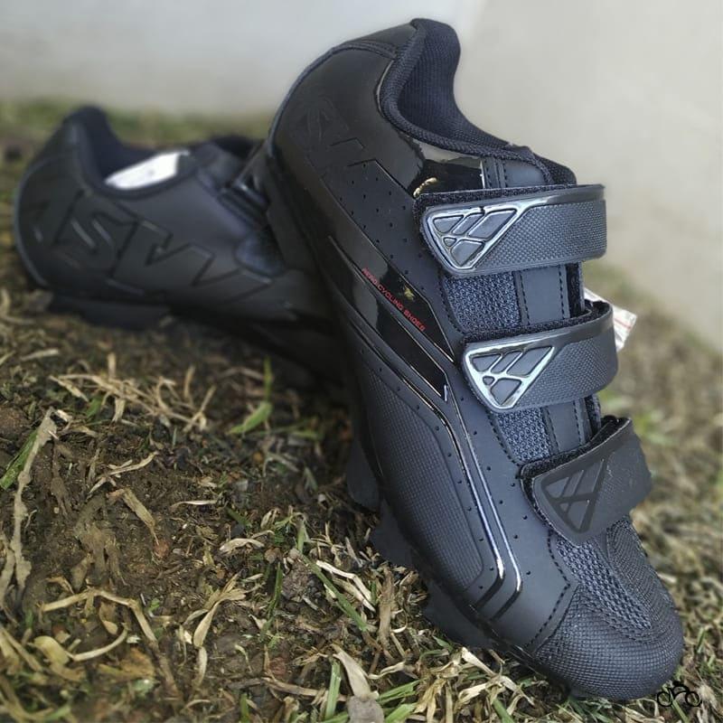 Sapatilha Mtb Ciclismo Asw Fury Preta + Pedal Zeray ZP-108S