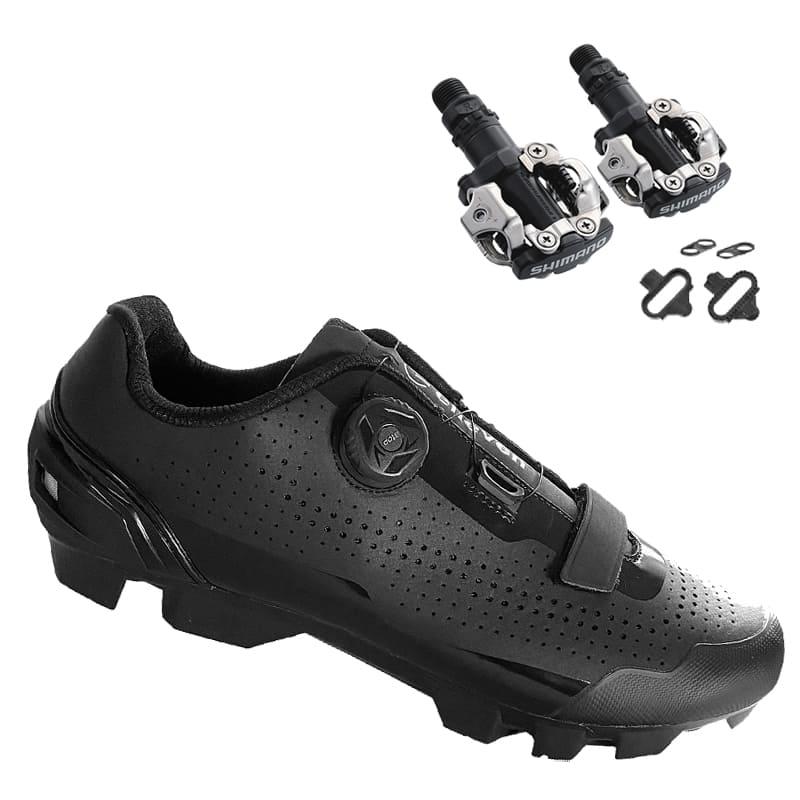 Sapatilha Mtb Ciclismo Elleven Disco Preta + Pedal Shimano M520