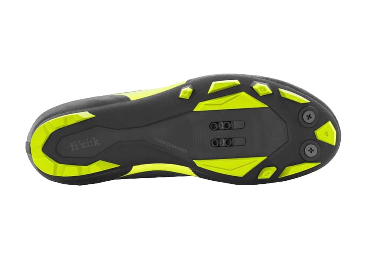 Sapatilha Mtb Ciclismo Fizik Terra X5 Carbon Amarela + Pedal Shimano M520