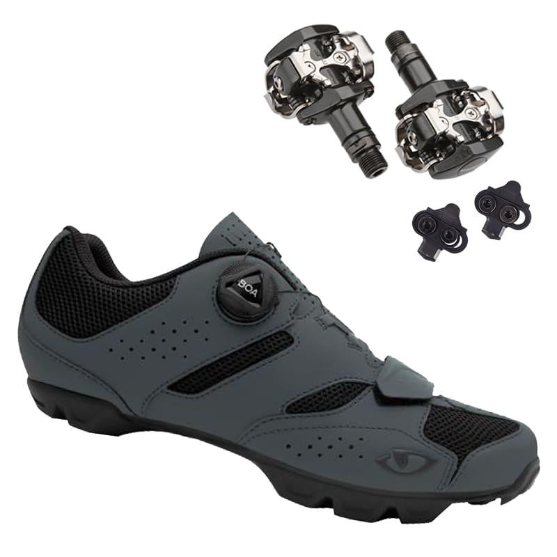 Sapatilha Mtb Ciclismo Giro Cylinder II Cinza + Pedal Shimano M505